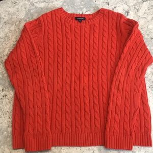 Lands End cable sweater